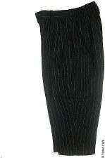 Wool Pants W/ Pinstripe Black-