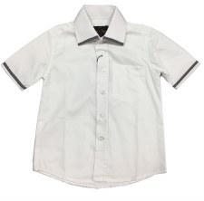 S/S Shirt W/ Trim White/Grey 4