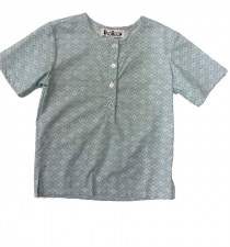 Boys S/S Print Shirt Light Blu