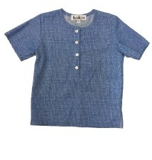 Boys S/S Print Shirt Blue 8