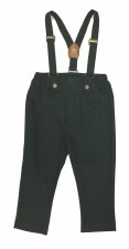 Brushed Suspender Pants Dark G