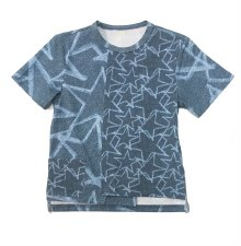 Star Print S/S Tee Denim 24M
