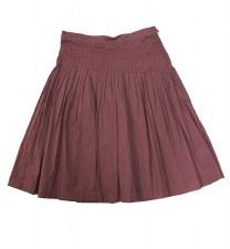 Skirt W/ Pleats Wine 7