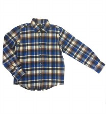 L/S Plaid Shirt Blue 12