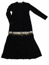 Velour Robe w/ Sequins Black 8