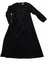 Velour Glitter Robe Black 2