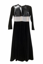 Patent Leather Robe Black/Whit