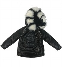 Metallic Winter Coat Black 4