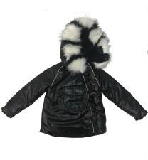 Metallic Winter Coat Black 6