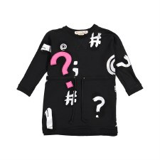Drawstring Punctuation Dress B