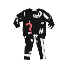 Baby Punctuation Set Black/Sil