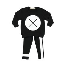 Baby XO Set Black/White 12M