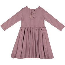 Rib Dress Mauve 5