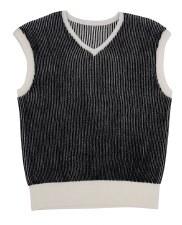 Ribbed Vest Black/White 5