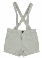 Suspender Shorts Grey 12M
