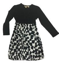 Geometric Dress Black/White 14