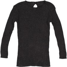Analogie Rib Knit Sweater Blac
