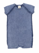 Analogie Rib Romper Blue Wash