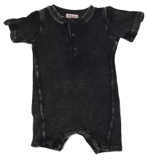 Ribbed Denim Romper Grey 18M