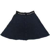 Ribbed Denim Skirt Blue 7