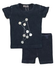 Ribbed Denim Dot Set Dark 12M