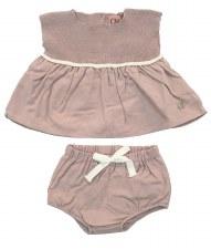Knit Combo Bloomer Set Mauve 6