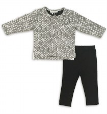 Textured Baby Set Grey/White 1