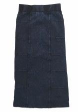 Long Denim Skirt Dark 8