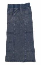 Long Denim Skirt Light 8