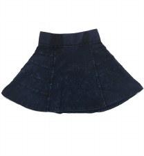 Panelled Denim Skirt Dark 4