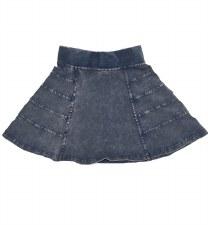 Panelled Denim Skirt Light 4