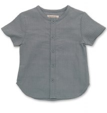 Rib S/S Shirt Blue 3