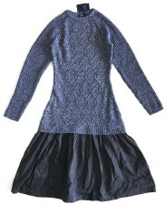Knit Teen Dress Blue L(20)