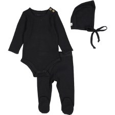 Ribbed Set Black 12M