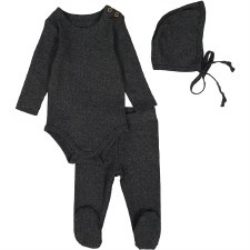 Ribbed Set Dark Heather 12M