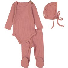 Ribbed Set Dusty Pink 12M