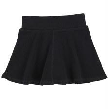 Ribbed Skirt- Lil Legs Black 5