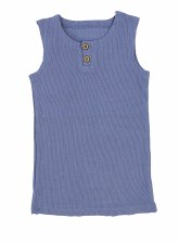 Ribbed Lil Legs Tank Blue 18M