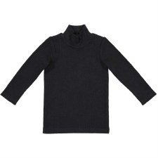 Rib Turtleneck Black 5T