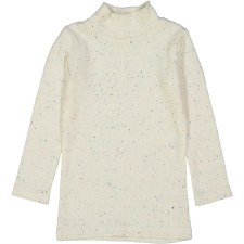 Rib Turtleneck Colored Speckle