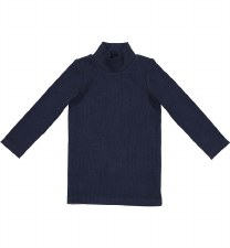 Rib Turtleneck Navy 12M
