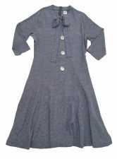 Teen Dress W/ Buttons Blue L(2