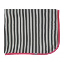 Striped Contrast Blanket Pink