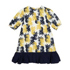 Pineapple Print Dress Navy 8