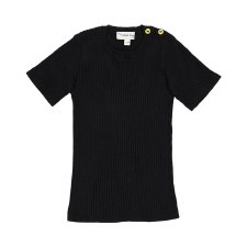 Analogie S/S Knit Top Black 18