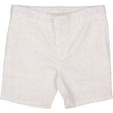Analogie Linen Shorts White 3
