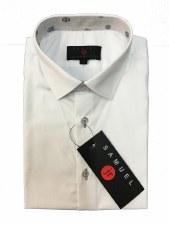 Slim S/S Shirt W/ Trim White/G