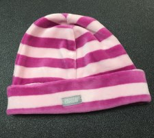 Striped Velour Hat Pink 1M
