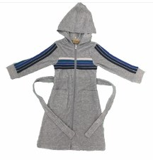 Boys Terry Robe W/ Stripes Gre