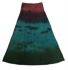 Long Tie Dye Skirt Teal 7